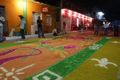 Tapis et religion au Mexique Image stock