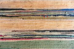 Tapis fabriqué à la main multicolore de tissu photographie stock
