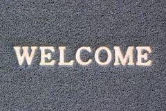 tapis gris bienvenu de vinyle Images stock