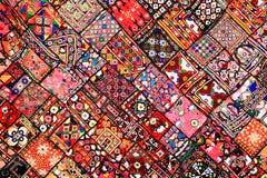 Tapis indien de patchwork Photos libres de droits
