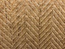 Tapis naturel de bambou d'armure de couleur de Brown Images libres de droits