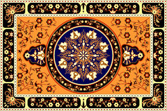 Tapis orange Photos stock