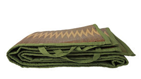 Tapis portatif vert d'isolement Images stock