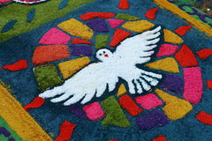 Tapis pour célébrer la semaine sainte, Salvador Image libre de droits