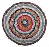 Tapis rond russe traditionnel de knit fait main. Image libre de droits
