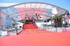 Tapis rouge à Cannes photographie stock libre de droits