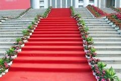 Tapis rouge Photo libre de droits