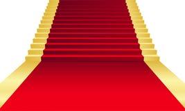 Tapis rouge Photos libres de droits