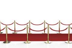 Tapis rouge avec la barrière de corde Images libres de droits