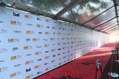 Tapis rouge de tiff Images stock