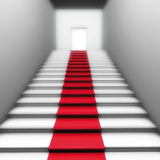 Tapis rouge de trappe Image stock