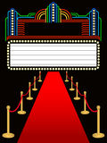 Tapis rouge Marquee premier/ENV illustration stock