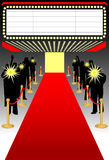 Tapis rouge premier/ai Images stock