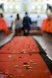 Tapis rouge Wedding Images libres de droits