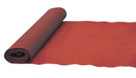 Tapis roulé rouge. Photos libres de droits