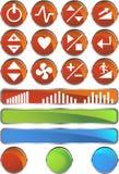 tapis roulant brillant de positionnement rond de boutons Image stock