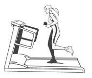 tapis roulant de forme physique Photos stock