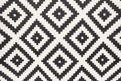 Tapis sans couture, modèle graphique noir et blanc Image stock