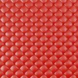 Tapisserie d'ameublement en cuir Sofa Background Sofa de luxe rouge de décoration Texture en cuir rouge élégante avec des boutons Photo libre de droits