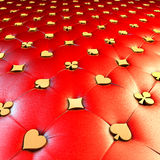 Tapisserie d'ameublement rouge de symbole de carte de jeu Image libre de droits