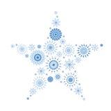 Tapisserie de flocon de neige dans la forme de l'étoile   Images stock