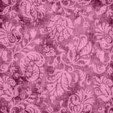 Tapisserie florale rose de cru Photographie stock libre de droits