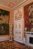 Tapisserie im Goldinnenraum Stockbild