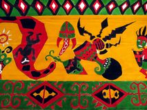 Tapisserie indigène image stock