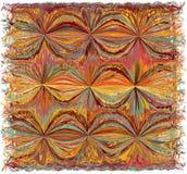 Tapisserie mit abstraktem buntem Schmutz gestreift, gewelltes Profil vektor abbildung