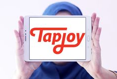 Tapjoy company logo editorial stock photo  Image of motto
