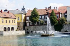 Tapolca fountain Royalty Free Stock Image