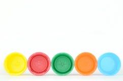 Tapones de tuerca plásticos Fotografía de archivo libre de regalías