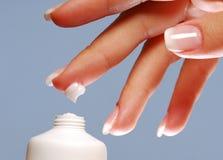 tappa fuktighetsbevarande hudkräm Fotografering för Bildbyråer