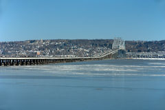 Tappan Zee Bridge. A winter view across the Hudson River and the Tappan Zee Bridge that crosses the Hudson River just north of New York City Royalty Free Stock Images