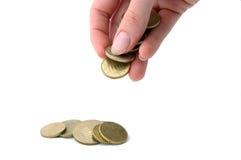 tappande euros Arkivbild