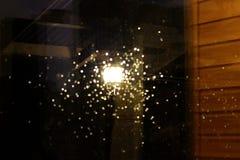 Tappar på exponeringsglaset abstrakt reflexion Fotografering för Bildbyråer