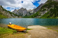 Tappenkarsee in Austrian Alps, Salzburger Land Royalty Free Stock Photos