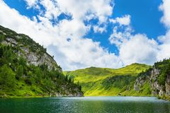 Tappenkarsee in Austrian Alps, Salzburger Land Royalty Free Stock Photography