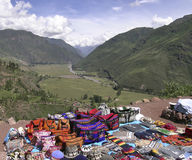 Tappeti peruviani colorati Fotografie Stock