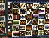 Tappeti peruviani colorati Fotografie Stock Libere da Diritti