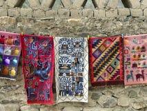 Tappeti peruviani colorati Fotografia Stock