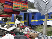 Tappeti peruviani colorati Immagine Stock Libera da Diritti