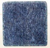 Tappeto blu quadrato Immagini Stock