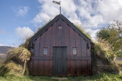 Tappeto-chiesa di Grafarkirkja, Islanda del Nord 5 Fotografie Stock