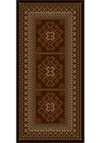 Tappeto d'annata con gli ornamenti etnici in tonalità marroni Fotografia Stock