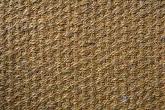 Tappeto della canapa, struttura del sisal del fondo del sisal Fotografie Stock Libere da Diritti