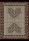 Tappeto di progettazione dal centrodel atdel ornamentdel ethnicFotografie Stock