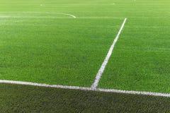 Tappeto erboso del campo di football americano di calcio Fotografie Stock