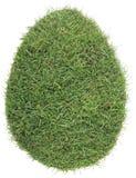 Forma dell'uovo del ritaglio del tappeto erboso dell'erba Immagini Stock Libere da Diritti