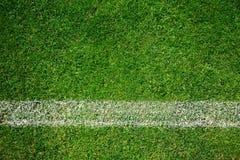 Tappeto erboso di calcio fotografia stock